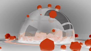 sci-fi ribbon surround glass metal tech digital ball... Stock Video Footage