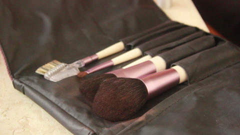 Makeup Brushes 1 Stock Video Footage
