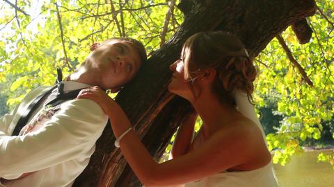 Newlyweds Stock Video Footage