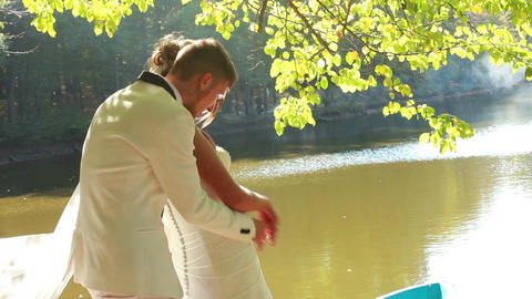 Newlyweds Stock Video Footage