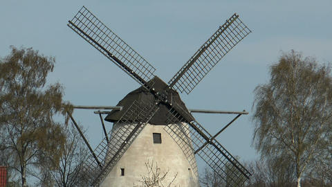 historic windmill closeup Stock Video Footage