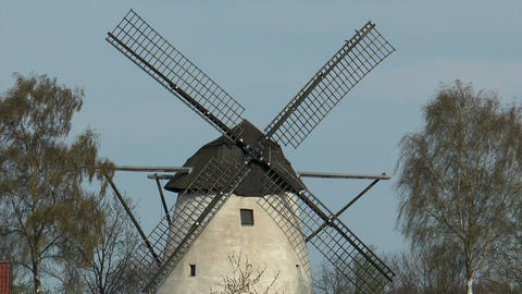 Historic Windmill Closeup stock footage