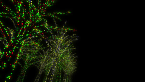 illumination tree neon D 2m HD Stock Video Footage