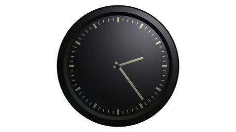 minimalist black clock timelaps Stock Video Footage