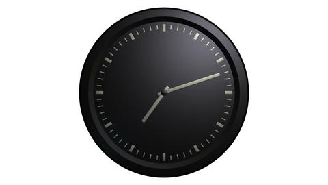 minimalist black clock timelaps Animation
