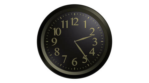 black gold wall clock Animation