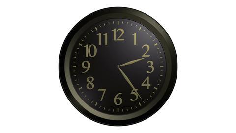 black gold wall clock Animation