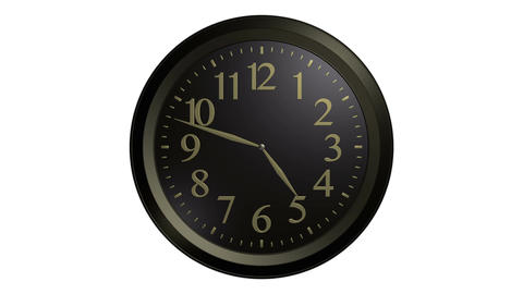 black gold wall clock Stock Video Footage