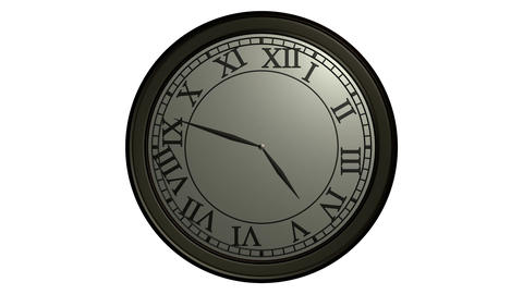 classic wall clock ticking Stock Video Footage