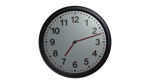 Elegant Wall Clock stock footage