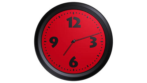red clock timelapse Stock Video Footage
