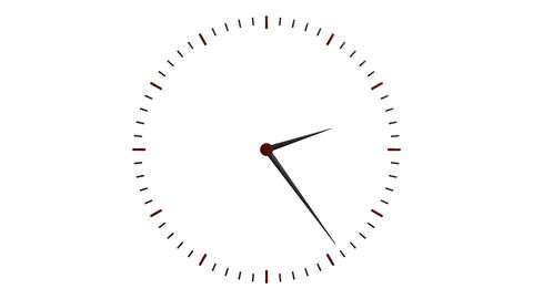 transparent clock ticker Stock Video Footage