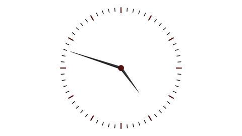 transparent clock ticker Stock Video Footage