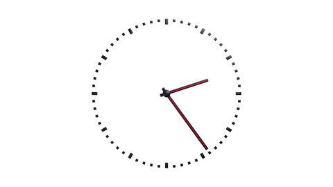 transparent simple clock Stock Video Footage