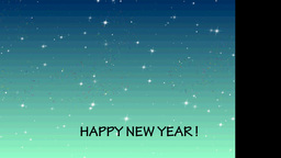 HAPPY NEW YEAR MOTION GRAPHIC--1 Stock Video Footage