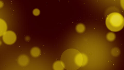 Defocused particles background. Yellow Animation