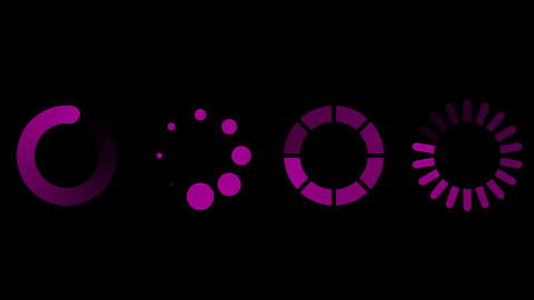 Loading icon set with alfa channel. Loop Stock Video Footage