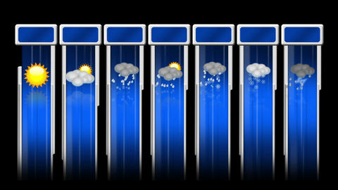 Weather animated icon set Stock Video Footage