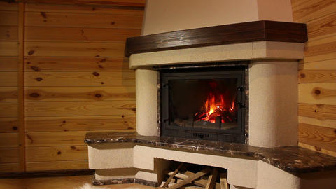 Fireplace. 3 Shots stock footage