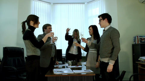 Success celebrating Stock Video Footage