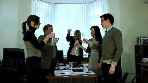 Success celebrating Stock Video Footage