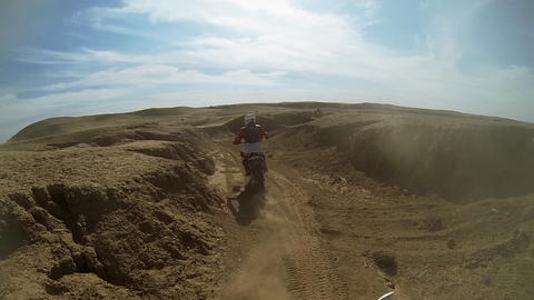 Sport Motocross racing exciting tough adventure ex Stock Video Footage