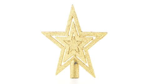 Christmas decoration star Footage
