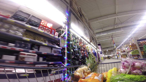 Christams Buying Stock Video Footage