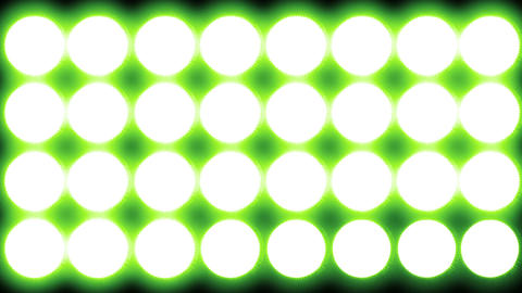 4 K Led Lights 8 green Footage