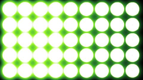 4 K Led Lights 10 green Stock Video Footage