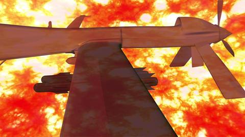 4 K Predator Type Drone 3 firestorm Stock Video Footage