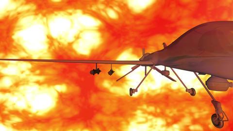 4 K Predator Type Drone 5 firestorm Stock Video Footage