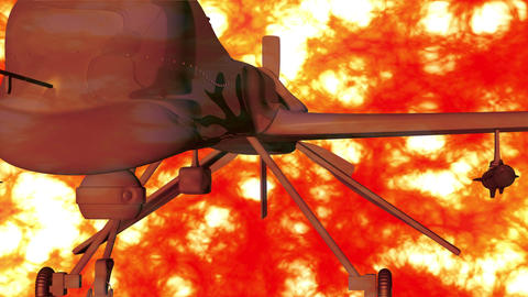 4 K Predator Type Drone 7 firestorm Stock Video Footage