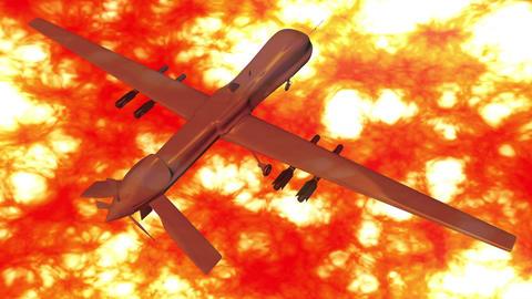 4 K Predator Type Drone 9 firestorm Stock Video Footage