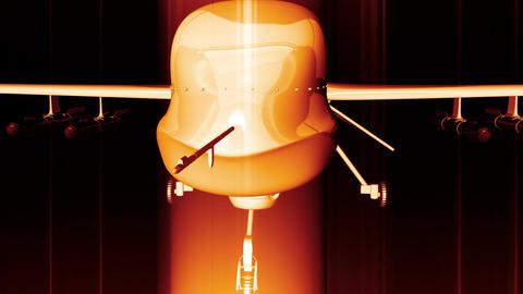 Predator Type Drone 2 Stock Video Footage