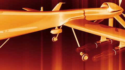 Predator Type Drone 4 Stock Video Footage