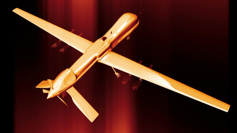 Predator Type Drone 10 Stock Video Footage