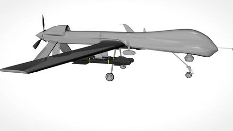 Predator Type Drone Showroom with Matte 5 Animation