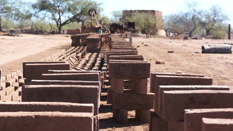 Adobe Brick Manufacturing Dolly Footage