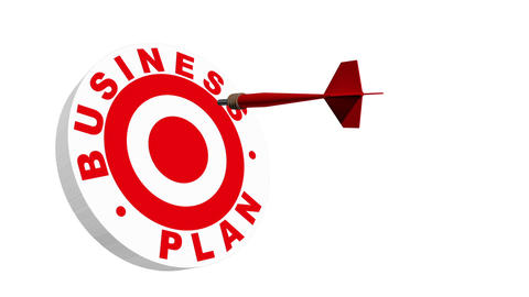 Business Plan Target Metaphor Stock Video Footage