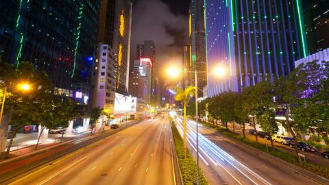 4k (4096x2304) timelapse in motion, Street traffic Stock Video Footage