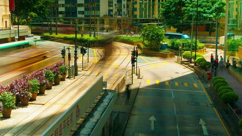 4k (4096x2304) timelapse, Hong Kong roads traffic Stock Video Footage