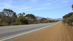 Road Train Travelling Down An Australian Highway Stock Video Footage