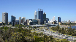 View Of Perth City, Australia, From King's Park Stock Video Footage