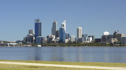 Exercising along the Swan River in Perth, Australi Stock Video Footage