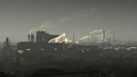 factory pollution coal scuttle 11263 Stock Video Footage