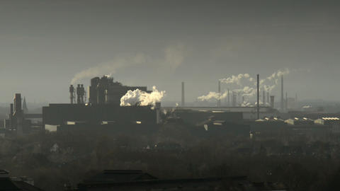 factory pollution coal scuttle 11263 Footage
