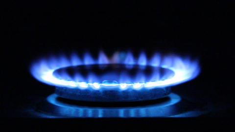 gas flame. Natural Gas Of a gas stove Stock Video Footage