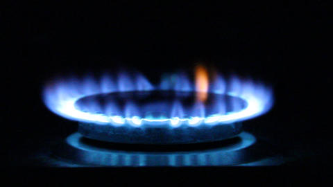 gas flame. Natural Gas Of a gas stove Footage