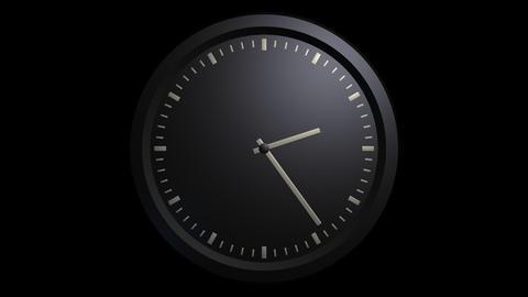 minimalist black clock timelapse with alpha Stock Video Footage